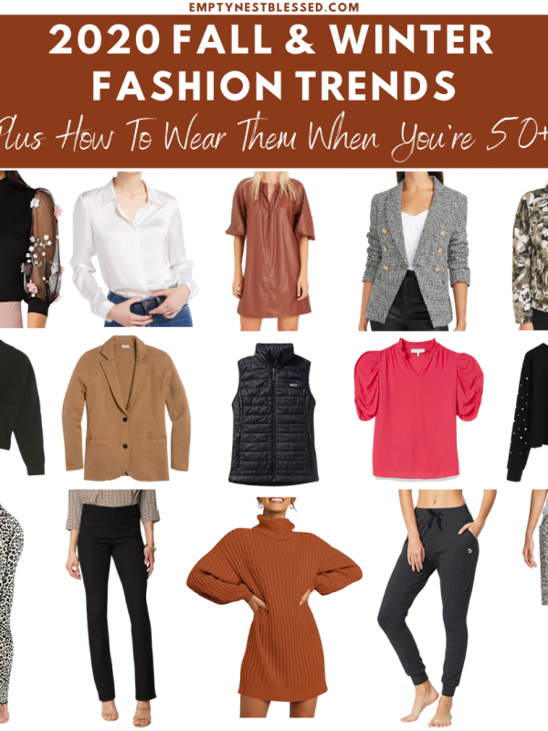collage of 2020 fall & winter fashion trends