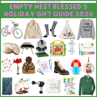 empty nest blessed holiday gift guide square collage