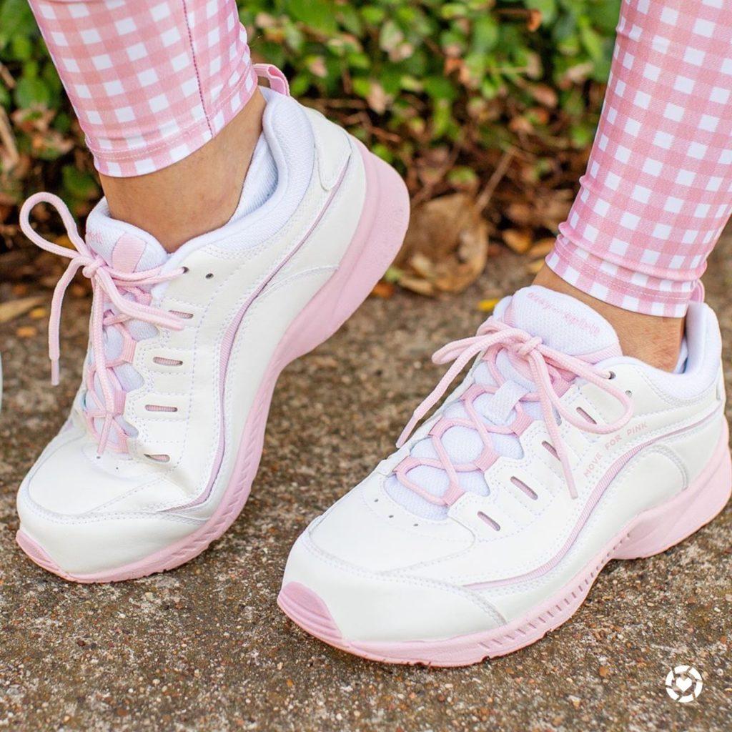 Easy Spirit move for pink romy walking shoe