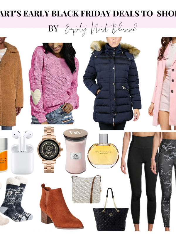 collage of items on sale in walmart's early black friday deals sale