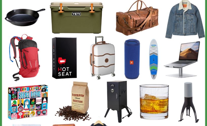 collage of gift ideas for young adults