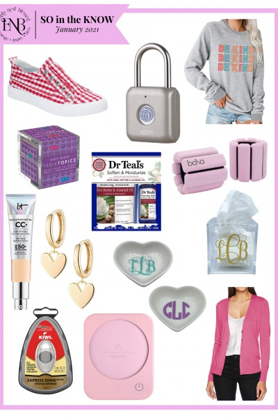 collage of fashion and lifestyle products