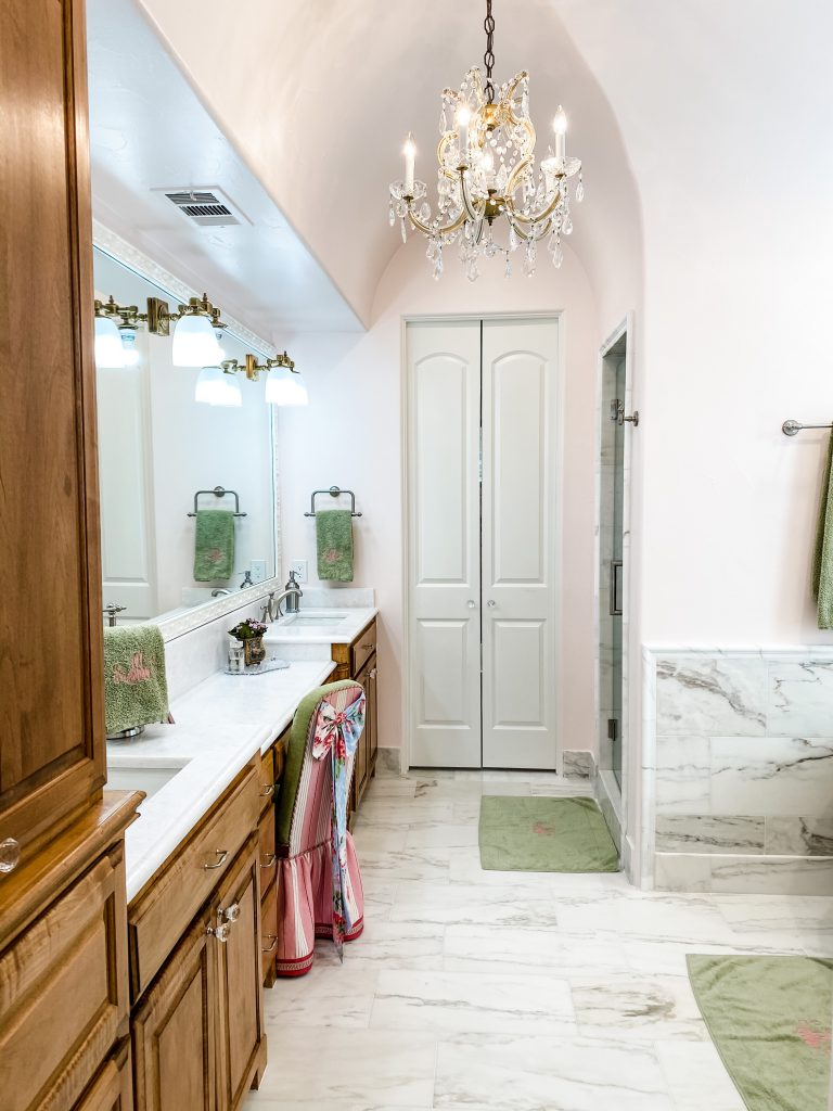 master bathroom remodel - updated slab