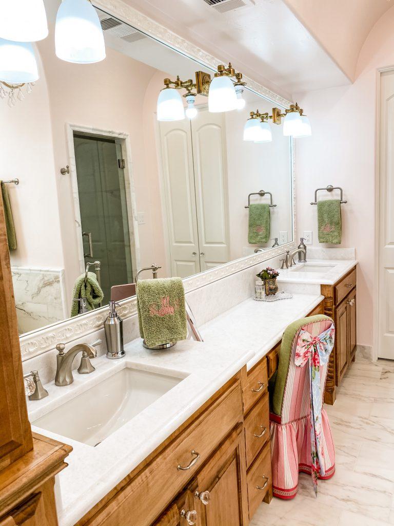 master bathroom remodel - updated countertop and vanity