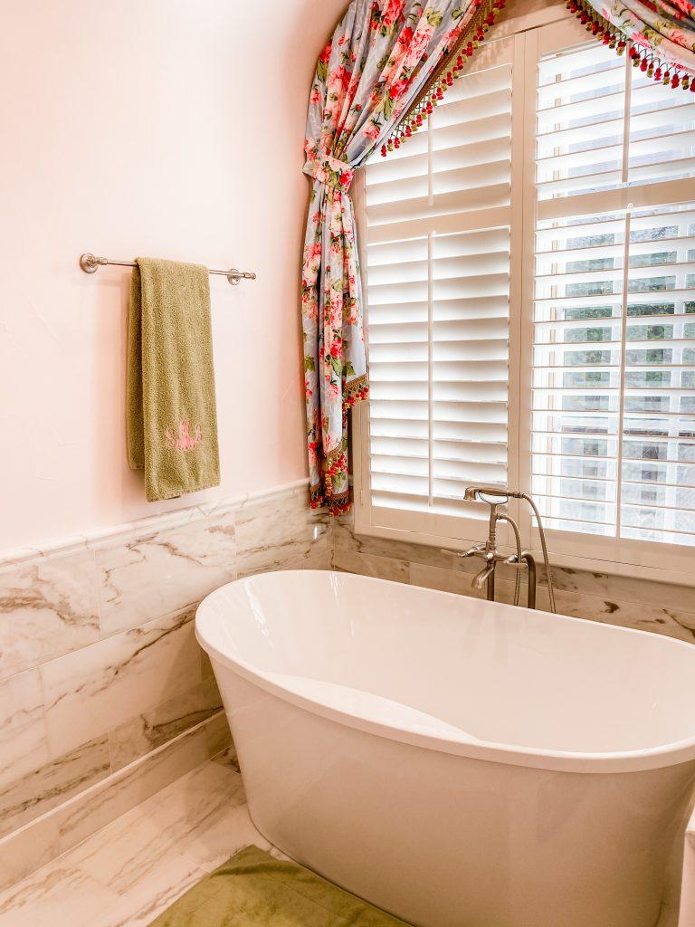 master bathroom remodel - updated bathtub