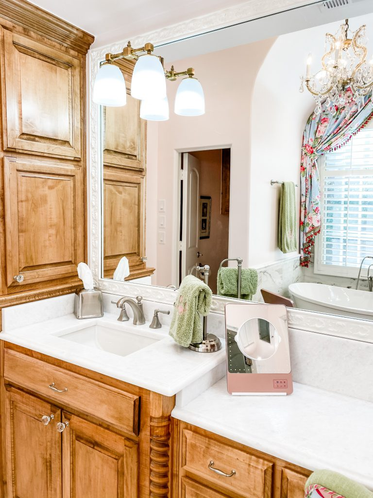 master bathroom remodel - updated sink and counter