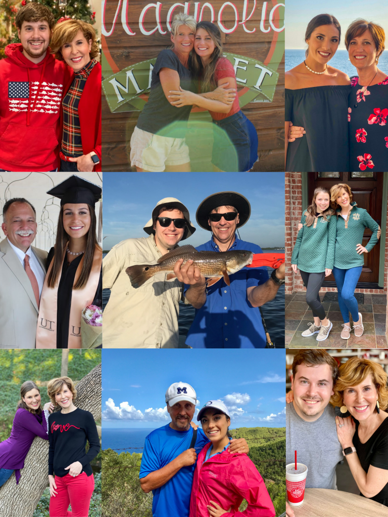 collage adult children and parents