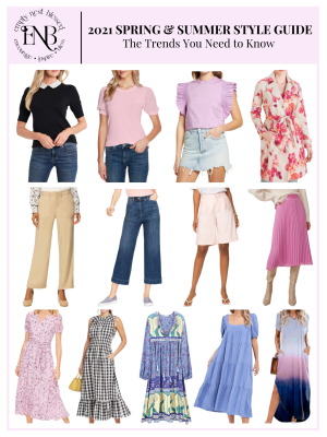 collage spring 2021 trends shirts pants skirts dresses