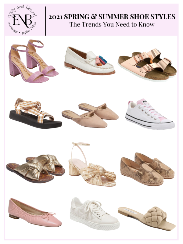 collage spring summer shoes