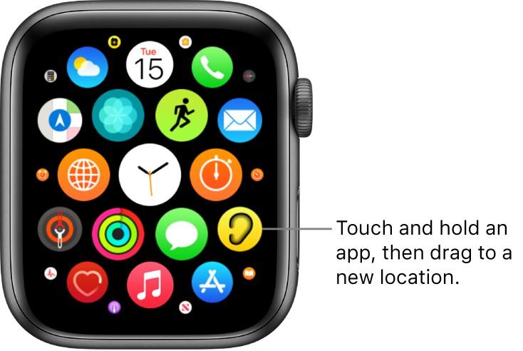 Apple watch reorganize apps