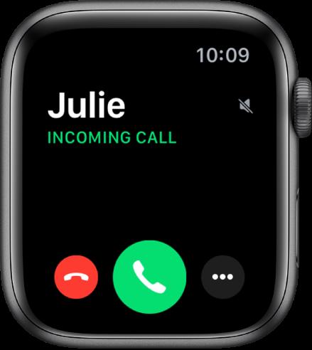 Apple watch incoming call