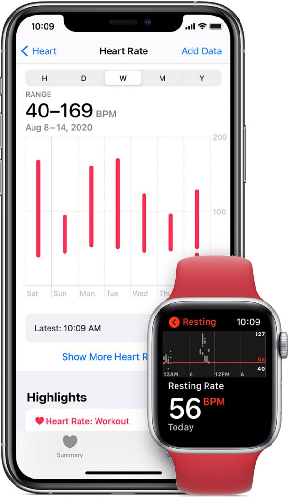iphone apple watch heart rate monitor