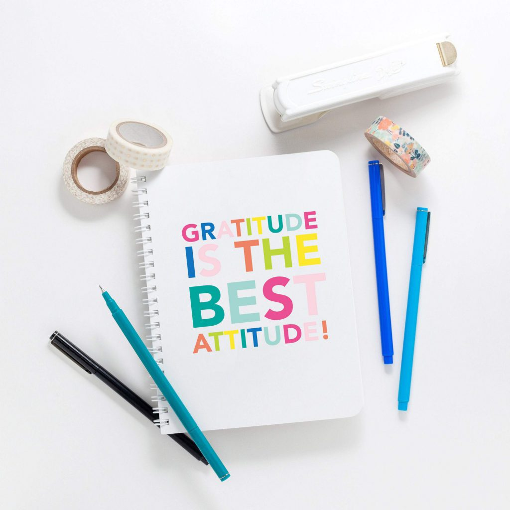gratitude is the best attitude notebook from joy creative shop
