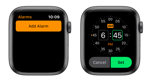 alarm timer apple watch