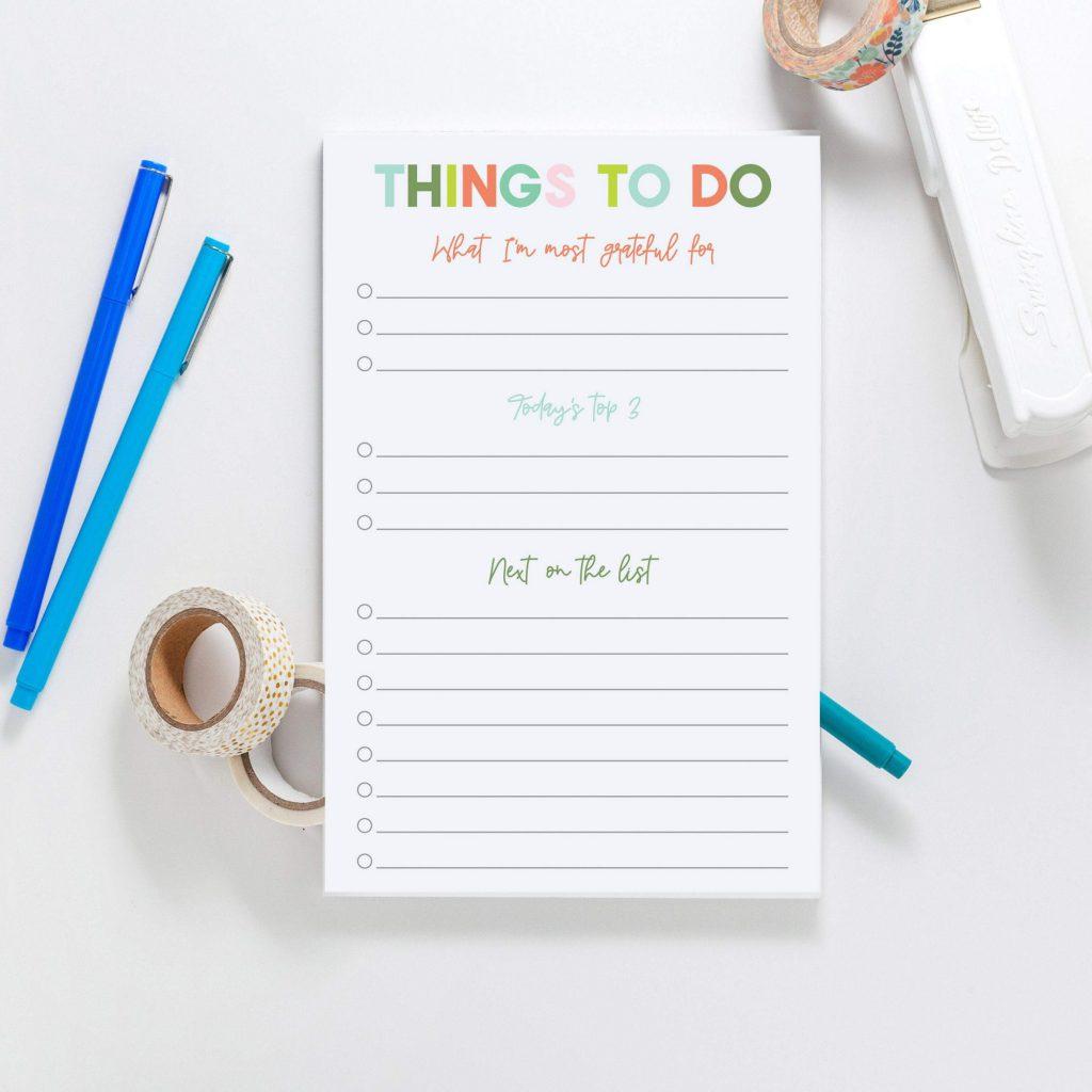 gratitude to do list from joy creative shop