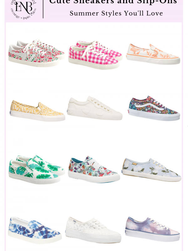 This is a collection of cute and colorful summer sneakers!