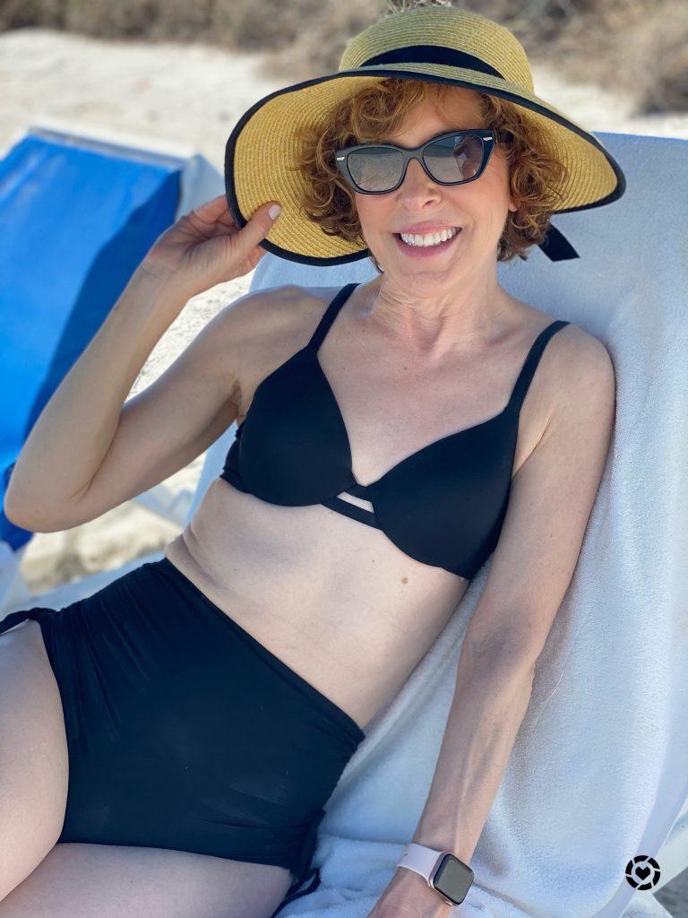 spanx bikini top and adjustable bikini bottoms