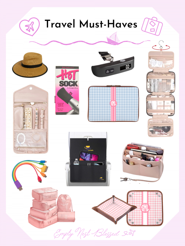 collage of travel must haves