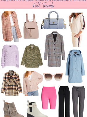 collage of examples of fall trends from the nordstrom Anniversary sale