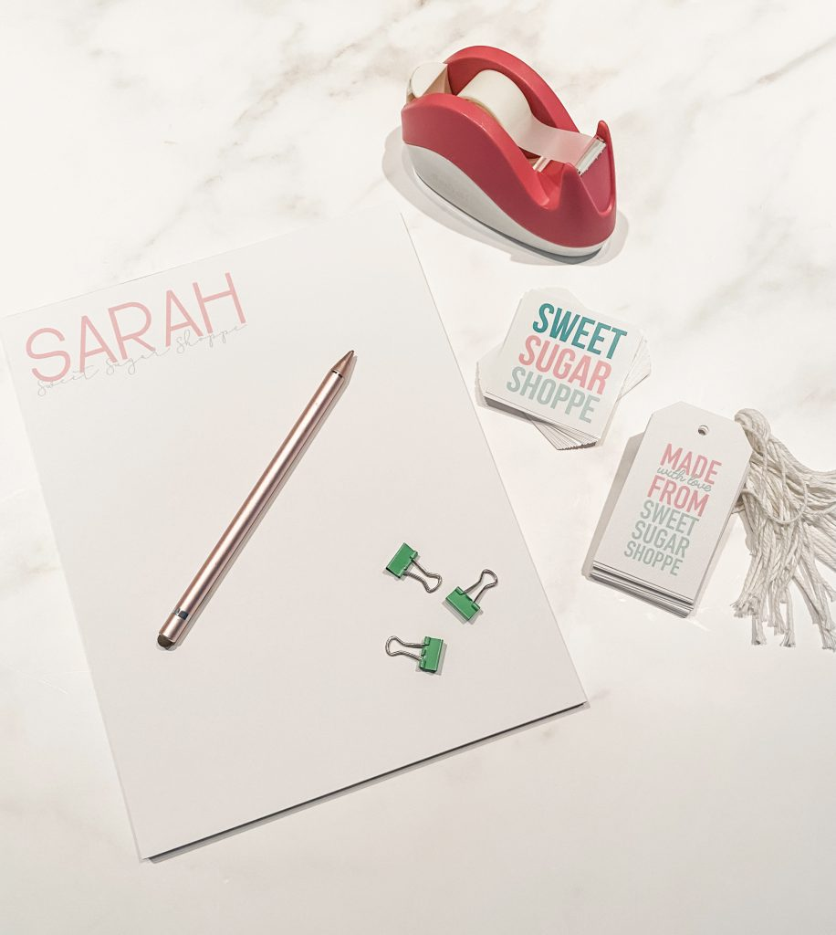personalized paper goods from Joy Creative Shop