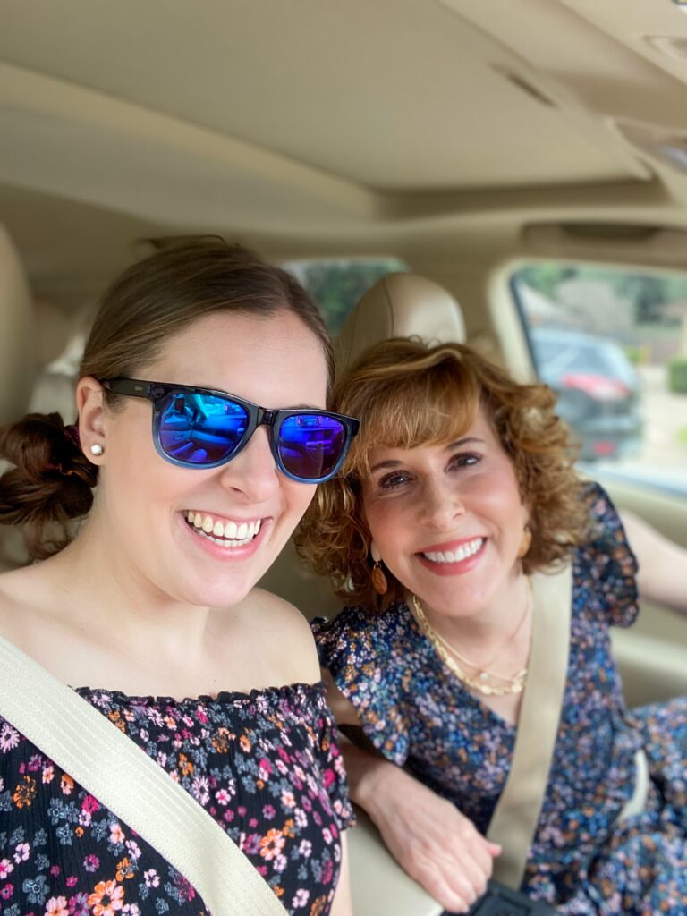 empty nester over 50 with her daughter